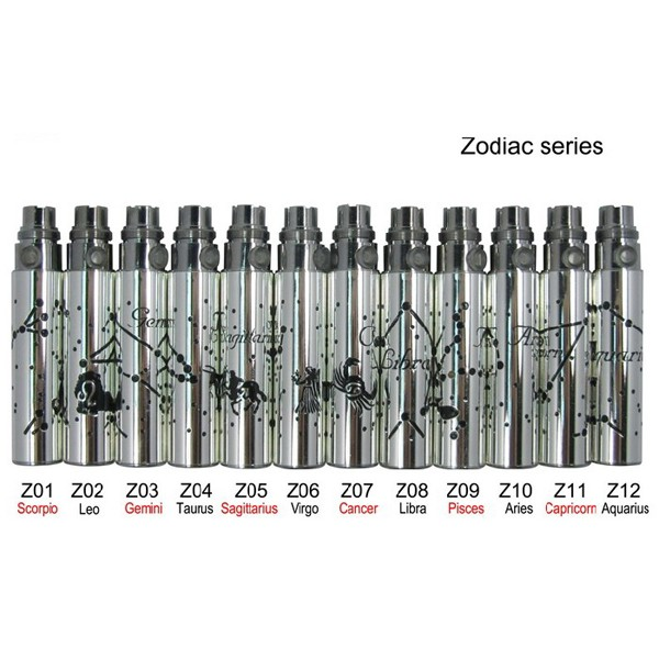 eGo-Z ( Zodiac ) battery 900mah capacity